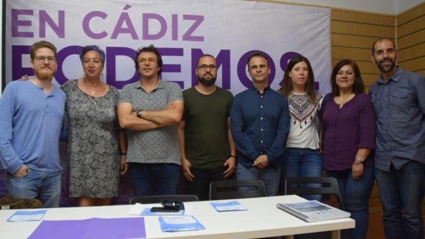 Presentación de la hoja de ruta de Podemos para los astilleros gaditanos.