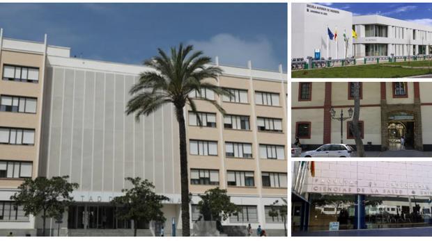 Varias de las facultades de la UCA donde se imparten las titulaciones más demandadas