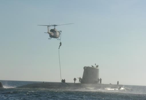 Abordaje de submarino.