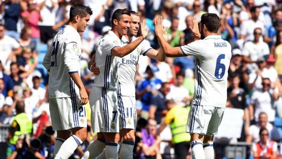 Así han celebrado los jugadores del Madrid el gol de Cristiano