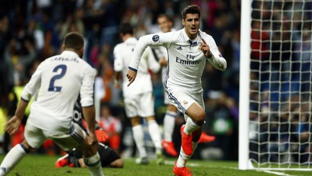 Morata, tras marcar el gol de la victoria del Madrid