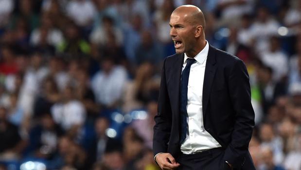Zidane, durante el partido ante al Villarreal