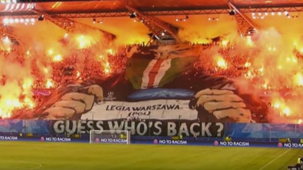 Imagen del Estadio del Ejercito Polaco durante el partido ante el Dortmund
