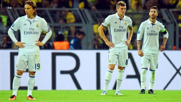 Modric, Kroos y Ramos, tras el 2-2