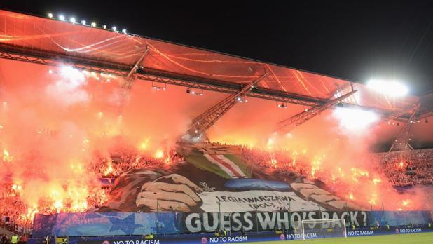 Champions:  «Máxima preocupación» por los violentos ultras del Legia de Varsovia