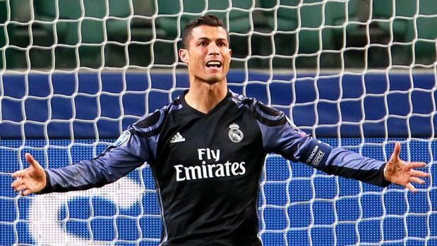 Cristiano, durante el Legia-Real Madrid