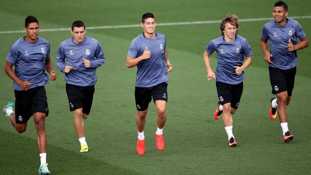 Varane, Kovacic, James, Modric y Casemiro