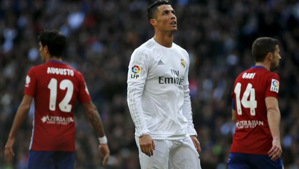 Cristiano, en el derbi del pasado mes de febrero en el Bernabéu