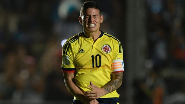 James Rodríguez, con Colombia