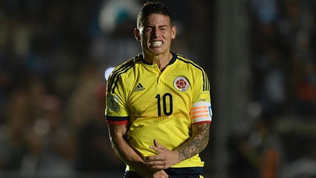 James Rodríguez, con Colombia