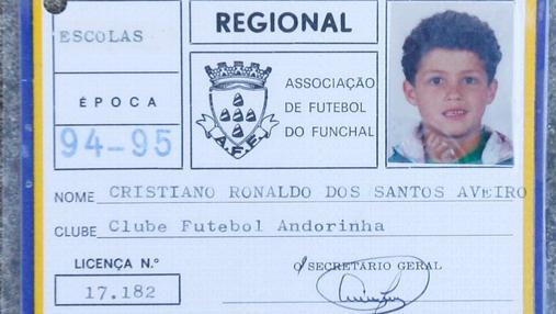 La ficha del Cristiano en el Andorinha,, su primer club