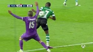 Así fue el absurdo penalti de Coentrao