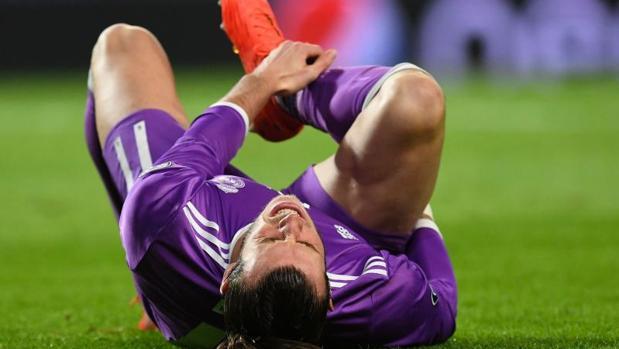 Bale, en el momento de la lesión ante el Sporting de Portugal