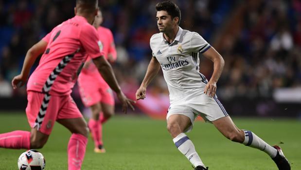 Enzo Zidane, en el partido ante la Cultural Leonesa