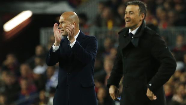 Barcelona-Real Madrid:  Zidane rota, Luis Enrique los agota
