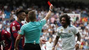 Marcelo, expulsado ante el Levante
