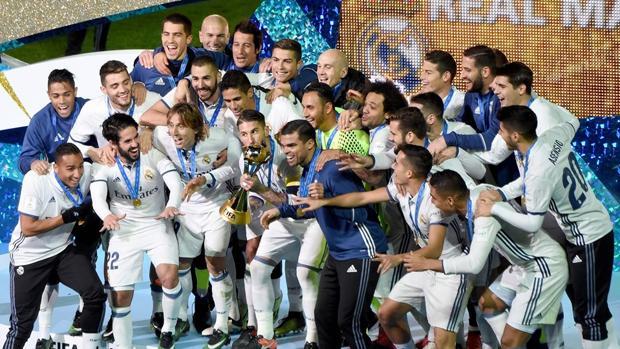 El Real Madrid, tras su victoria en el Mundial del año pasado en Yokohama