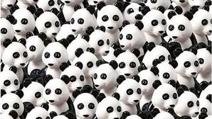 El último reto de Lego en Instagram: «¿Puedes encontrar el perro escondido entre estos pandas?»