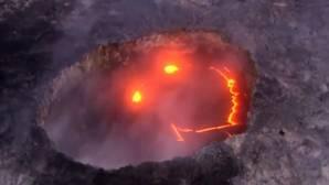 La espectacular erupción de un volcán «sonriente» en Hawái