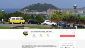 Un usuario en Airbnb alquilaba una furgoneta para dormir durante las vacaciones en San Sebastián