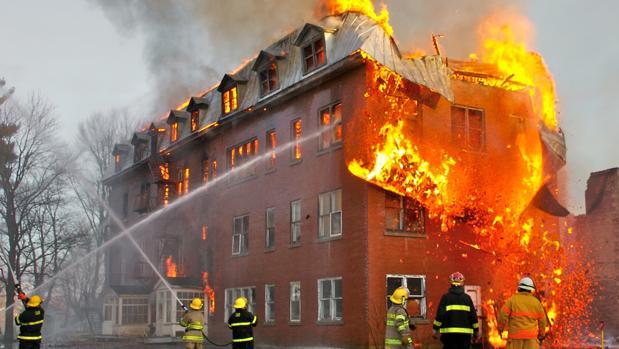 Imagen de archivo de un incendio en Canadá