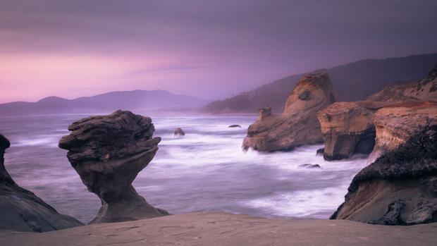 Imagen de la famosa roca de Cabo Kiwanda