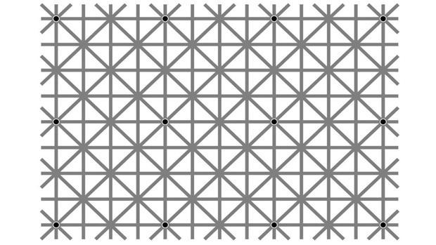 Los «esquivos» puntos negros que tu cerebro no quiere que veas