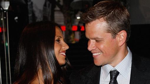 Matt Damon junto a su esposa, Luciana Barroso