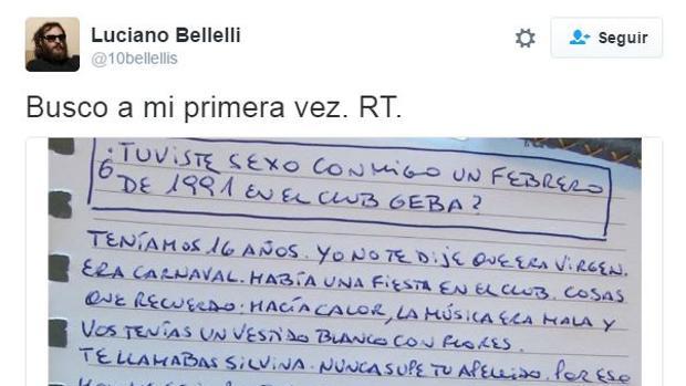 Twitter:  Un escritor argentino busca por Twitter a la mujer con la que perdió la virginidad hace 25 años