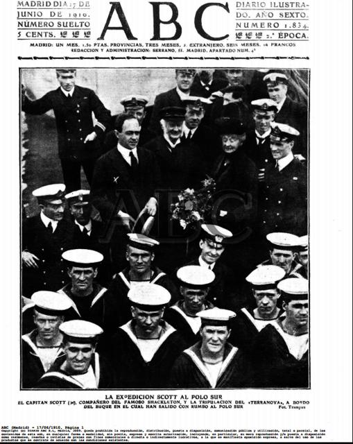 La expedición del Capitán Scott fue portada de ABC en junio de 1910