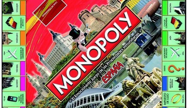 Tablero de la edición de Monopoly España de 2017