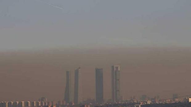 Madrid bajo la nube de contaminación