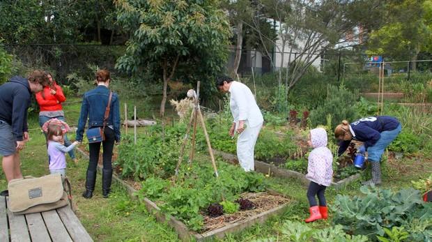 El jardín un buen sitio para hacer ejercicio
