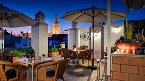 La terraza del hotel Murillo