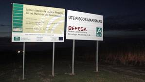 La Junta de Andalucía pagó 22 certificaciones de la obra de la marisma pese a que estaba parada