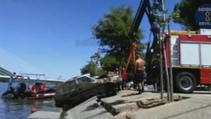 Tercer coche rescatado del río Guadalquivir en tan solo veinte días