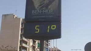 Sevilla bate el récord de temperaturas del año al alcanzarse los 44.5 grados a las cinco de la tarde