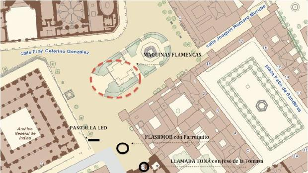 Imágenes cortes de tráfico Bienal de Flamenco