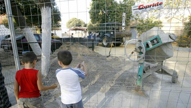 Obras en un colegio de Sevilla
