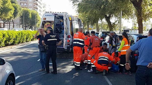 El accidente se ha producido en la avenida Flota de Indias