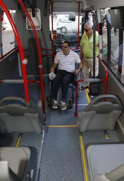 Interior de los microbuses