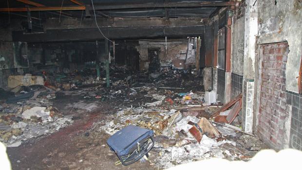 Estado en el que ha quedado el inmueble tras el incendio