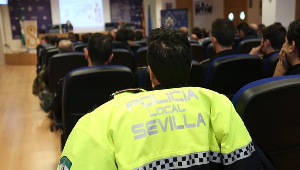 Policías locales, en un acto del Cuerpo