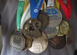 Medallas conseguidas por Mario Sánchez, del Club de Amigos del Parque de María Luisa