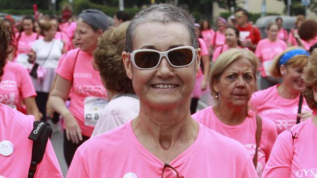 Carmen Chao ayer en la Carrera de la Mujer