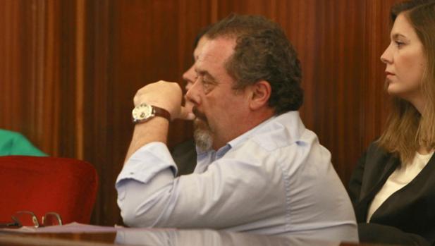 El acusado del crimen del vicario, durante el juicio