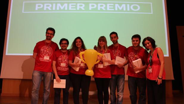 Componentes de Indieye, la tienda online de videojuegos ganadora del Sevilla Startup Weekend