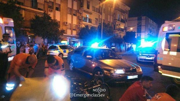 Fallece un motorista en un accidente en la avenida de San Lázaro de Sevilla