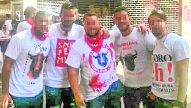 Los cinco detenidos por la violación de la joven madrileña, en los pasados Sanfermines