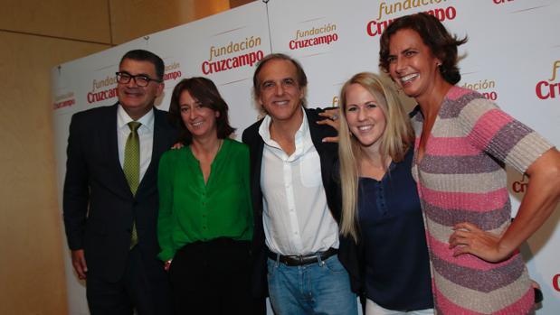 Antonio Ramón Rodríguez Hernández, Claudia Guardiola, Paco Arango, Caroline Larsson y María Franco